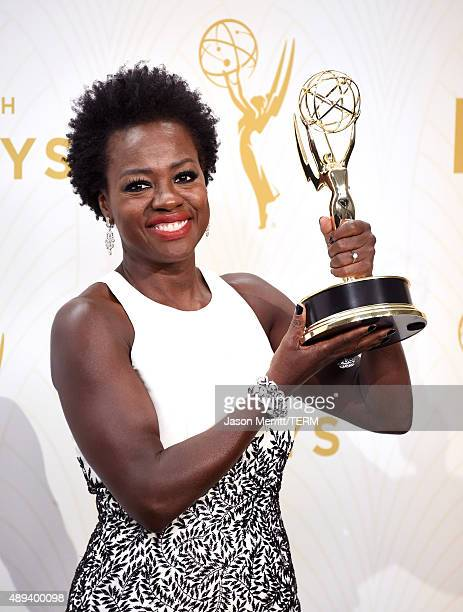 Actress Viola Davis winner of Outstanding Lead Actress in a Drama Series for 'How to Get Away with Murder' poses in the press room at the 67th Annual...