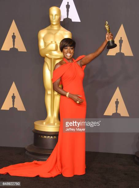 Actress Viola Davis winner of the award for Actress in a Supporting Role for 'Fences' poses in the press room during the 89th Annual Academy Awards...