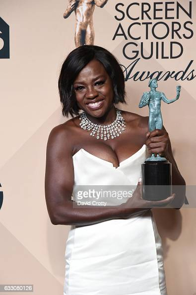 Actress Viola Davis winner of the Outstanding Performance by a Female ...