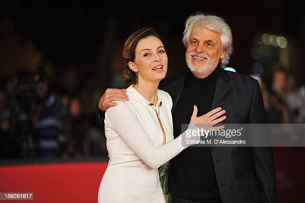 Actress Violante Placido and director Michele Placido attend 'The Lookout' Premiere during the 7th Rome Film Festival at the Auditorium Parco Della...