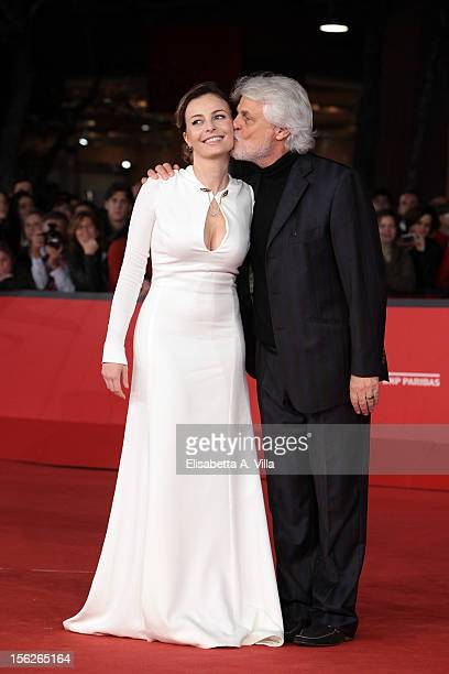 Actress Violante Placido and director Michele Placido attend the 'The Lookout' Premiere during the 7th Rome Film Festival at Auditorium Parco Della...
