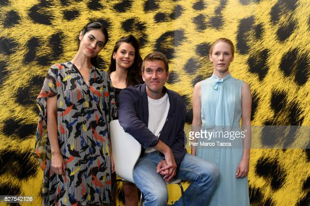 Actress Violetta Schurawlow Anna F Director Felix Randau and Actress Susanne Wuest pose during the 'Iceman' photocall at the 70th Locarno Film...