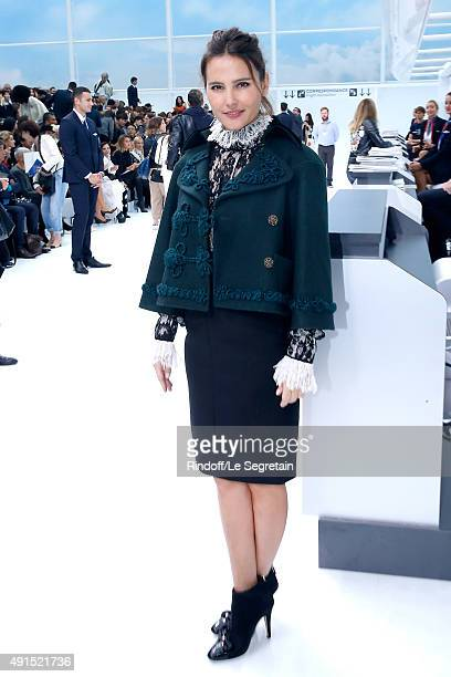 Actress Virgine Ledoyen attends the Chanel show as part of the Paris Fashion Week Womenswear Spring/Summer 2016 Held at Grand Palais on October 6...
