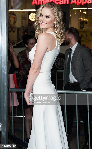 Actress Virginia Gardner arrives at the Premiere Of Paramount Pictures' 'Project Almanac' at TCL Chinese Theatre on January 27 2015 in Hollywood...