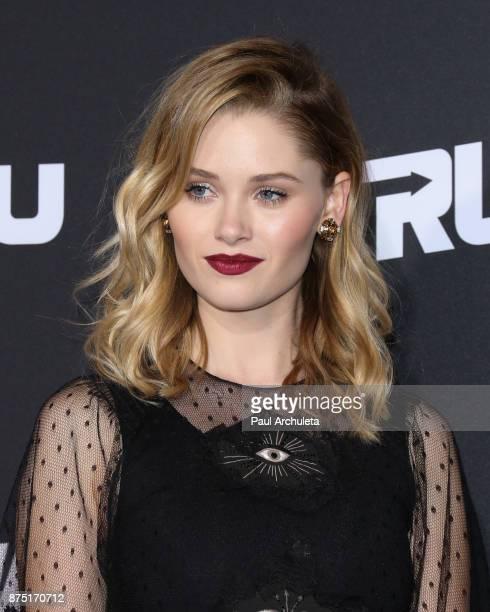 Actress Virginia Gardner attends the premiere of Hulu's 'Marvel's Runaways' at The Regency Bruin Theatre on November 16 2017 in Los Angeles California