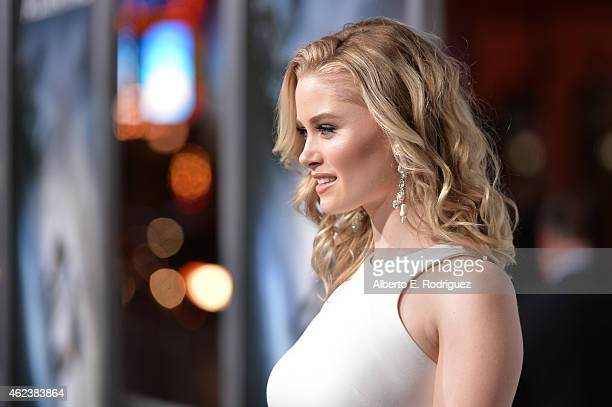 Actress Virginia Gardner attends the premiere of Paramount Pictures' 'Project Almanac' at TCL Chinese Theatre on January 27 2015 in Hollywood...