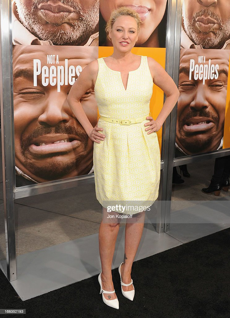 Actress Virginia Madsen arrives at the Los Angeles Premiere 'Peeples' at ArcLight Hollywood on May 8, 2013 in Hollywood, California.