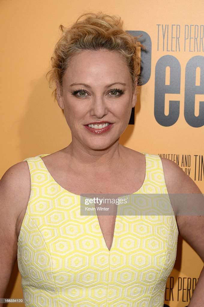Actress <a gi-track='captionPersonalityLinkClicked' href=/galleries/search?phrase=Virginia+Madsen&family=editorial&specificpeople=202232 ng-click='$event.stopPropagation()'>Virginia Madsen</a> arrives at the premiere of 'Peeples' presented by Lionsgate Film and Tyler Perry at ArcLight Hollywood on May 8, 2013 in Hollywood, California.