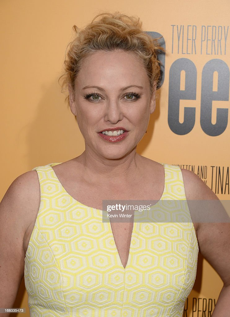 Actress Virginia Madsen arrives at the premiere of 'Peeples' presented by Lionsgate Film and Tyler Perry at ArcLight Hollywood on May 8, 2013 in Hollywood, California.