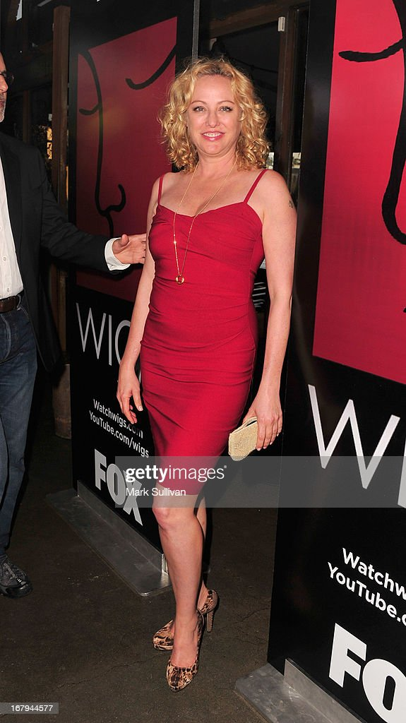 Actress Virginia Madsen arrives for the party to celebrate the one year anniversary of The WIGS Digital Channel at Akasha on May 2, 2013 in Culver City, California.