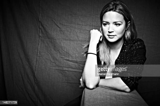 Actress Virginie Efira is photographed for Self Assignment on January 16 2012 in Alpe d'Huez France