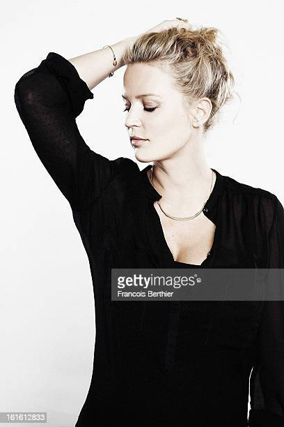 Actress Virginie Efira is photographed for Self Assignment on January 15 2013 in Alpe d'Huez France