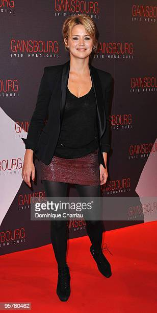Actress Virginie Efiral attends the premiere of ''Gainsbourg'' at the Cinema Gaumont Opera on January 14 2010 in Paris France