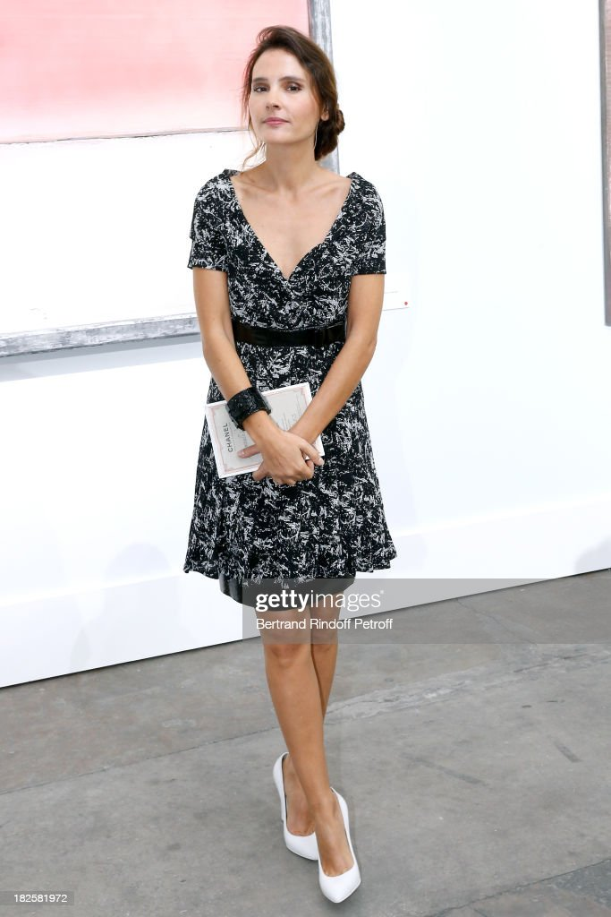 Actress Virginie Ledoyen attends the Chanel show as part of the Paris Fashion Week Womenswear Spring/Summer 2014, held at Grand Palais on October 1, 2013 in Paris, France.