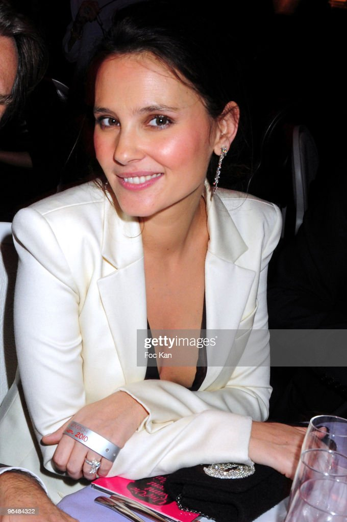 Actress Virginie Ledoyen attends the Fashion Dinner for AIDS at the Pavillon d'Armenonville on January 28 2010 in Paris France