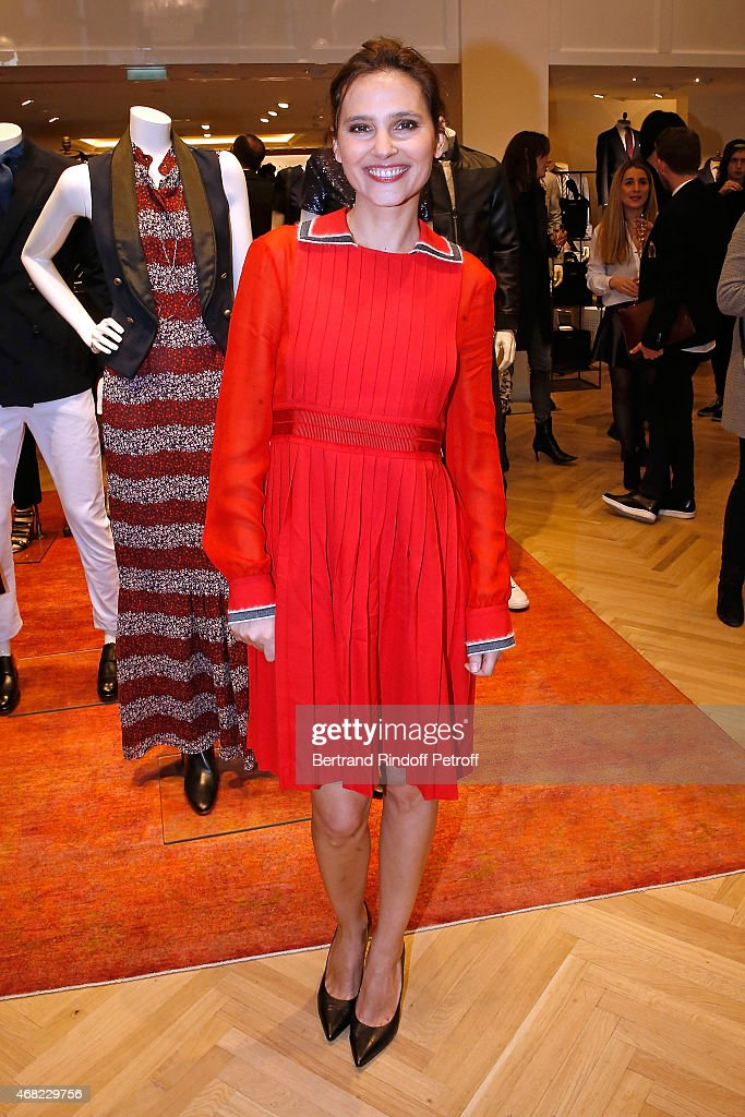 Actress <a gi-track='captionPersonalityLinkClicked' href=/galleries/search?phrase=Virginie+Ledoyen&family=editorial&specificpeople=206954 ng-click='$event.stopPropagation()'>Virginie Ledoyen</a> attends the Tommy Hilfiger Boutique Opening at Boulevard Capucines on March 31, 2015 in Paris, France.