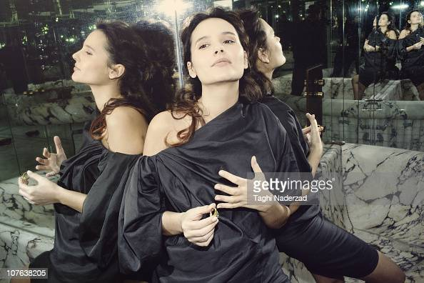 Actress Virginie Ledoyen poses at a portrait session for Grazia France on February 18 2010 in Paris France Published Image