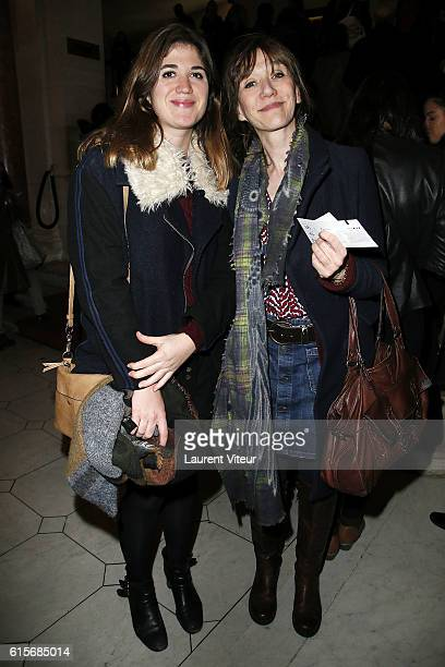 Actress Virginie Lemoine and guest attend 'Les Chatouilles ou La Danse de la Colere' Theater Play at Theatre du Chatelet on October 19 2016 in Paris...