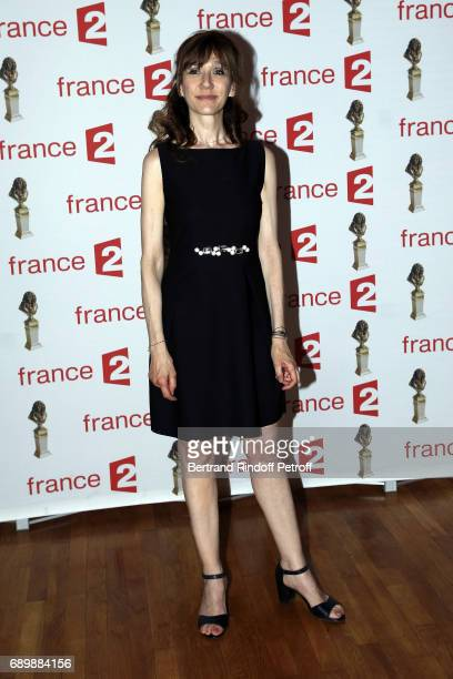 Actress Virginie Lemoine attends 'La Nuit des Molieres 2017' at Folies Bergeres on May 29 2017 in Paris France