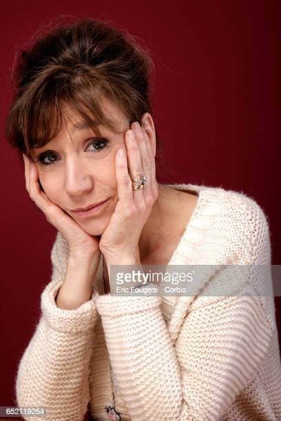Actress Virginie Lemoine poses during a portrait session in Paris France on