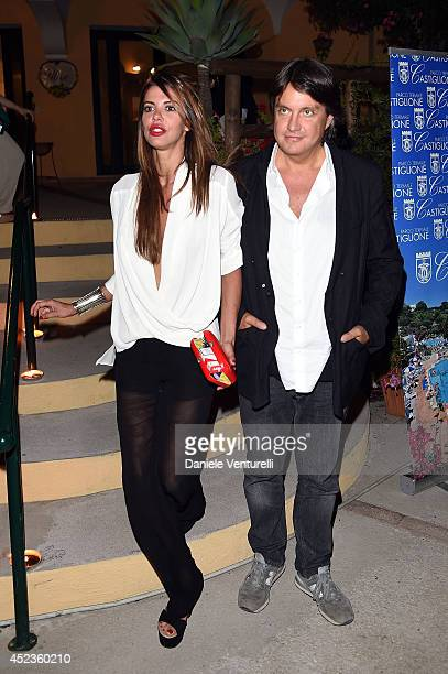 Actress Virginie Marsan and singer Cristiano de Andre attend Day 7 of Ischia Global Film Music Fest 2014 on July 18 2014 in Ischia Italy