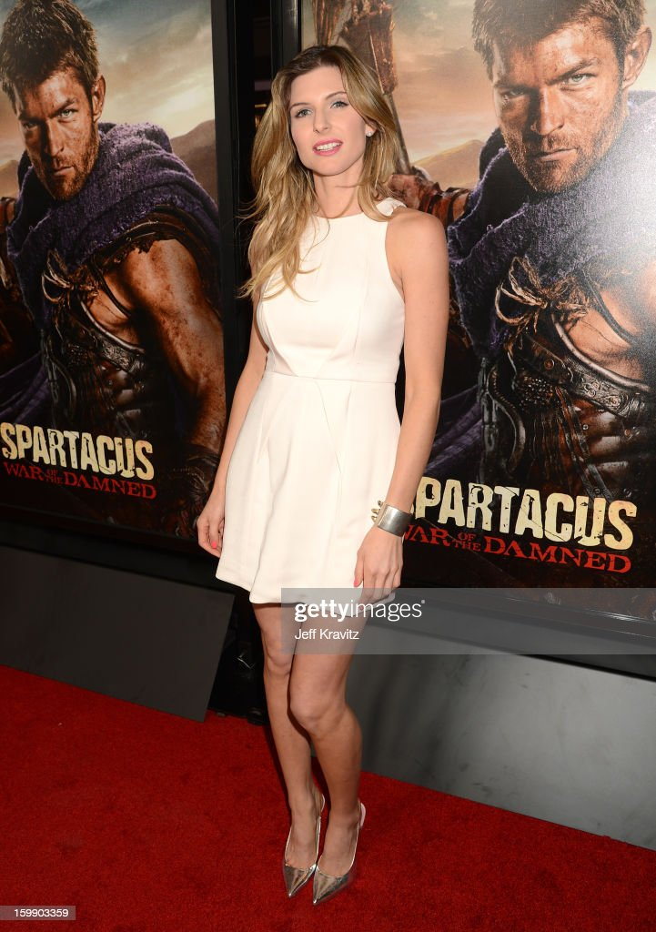 Actress Viva Bianca attends the 'Spartacus: War Of The Damned' premiere at Regal Cinemas L.A. LIVE Stadium 14 on January 22, 2013 in Los Angeles, California.