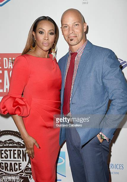 Actress Vivica A Fox and actor Berto Colon attend the 5th Annual Foundation for Letters Gala at IAC Building on October 19 2016 in New York City
