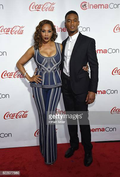 Actress Vivica A Fox and actor Jessie Usher recipients of the Ensemble of the Universe Award for 'Independence Day Resurgence' attend the CinemaCon...