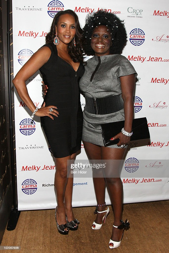 Actress Vivica A. Fox and Singer Melky Jean attend the 3rd annual Geminis Give Back at 1OAK on June 13, 2010 in New York City.