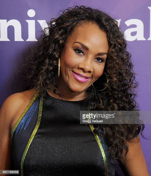 Actress Vivica A Fox arrives at the 2014 Television Critics Association Summer Press Tour NBCUniversal Day 2 at The Beverly Hilton Hotel on July 14...