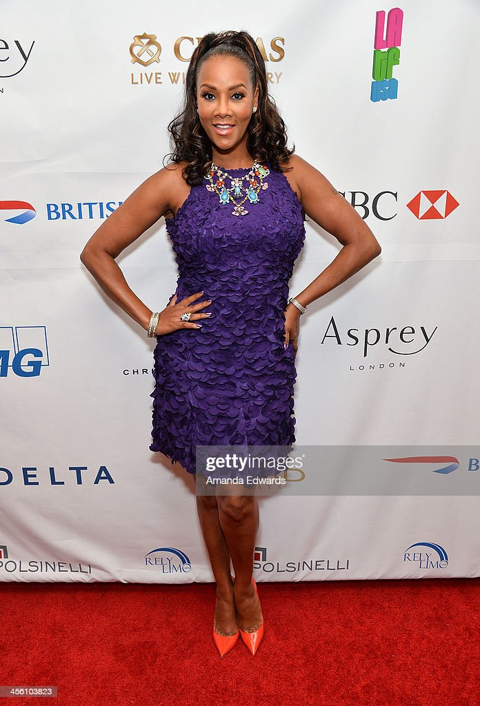 Actress <a gi-track='captionPersonalityLinkClicked' href=/galleries/search?phrase=Vivica+A.+Fox&family=editorial&specificpeople=201901 ng-click='$event.stopPropagation()'>Vivica A. Fox</a> arrives at The British American Business Council Los Angeles 54th Annual Christmas Luncheon at the Fairmont Miramar Hotel on December 13, 2013 in Santa Monica, California.