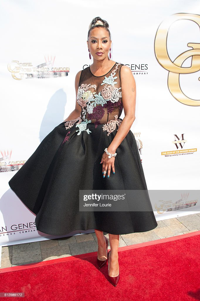 Actress Vivica A Fox arrives at the Gospel Goes To Hollywood event at the Vibiana on February 26 2016 in Los Angeles California