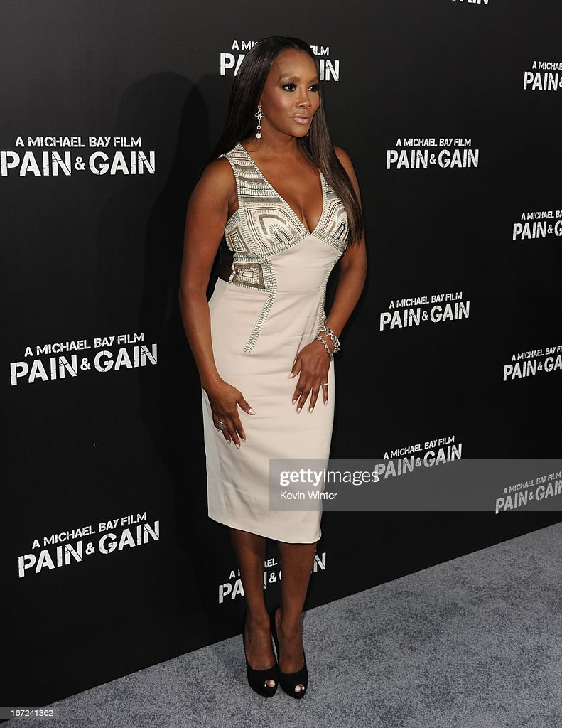 Actress Vivica A. Fox arrives at the premiere of Paramount Pictures' 'Pain & Gain' at TCL Chinese Theatre on April 22, 2013 in Hollywood, California.