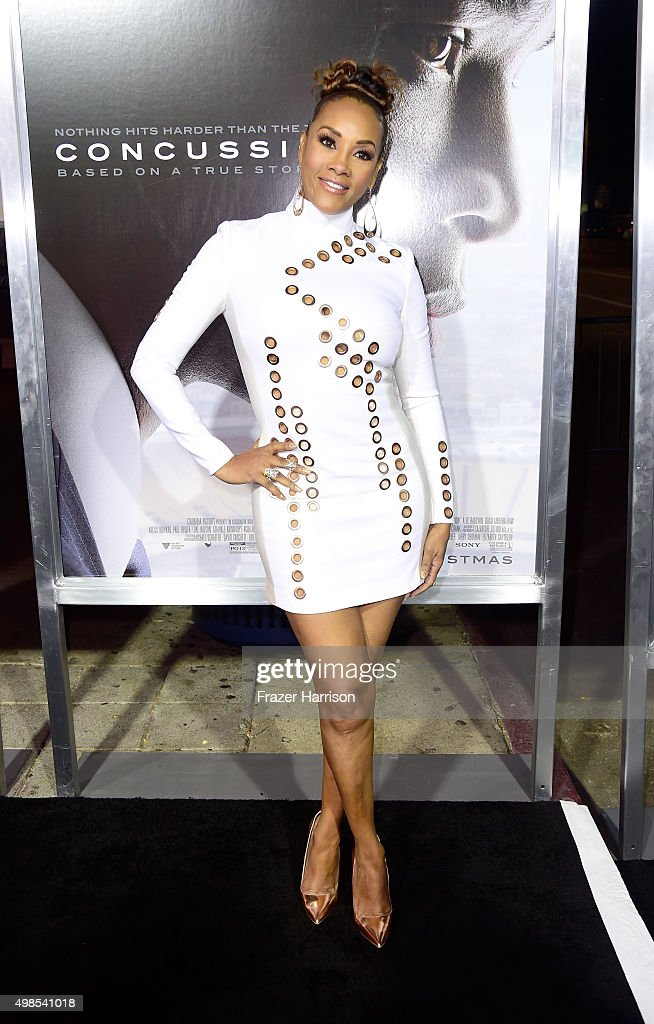 Actress Vivica A. Fox attends a Screening Of Columbia Pictures' 'Concussion' at Regency Village Theatre on November 23, 2015 in Westwood, California.