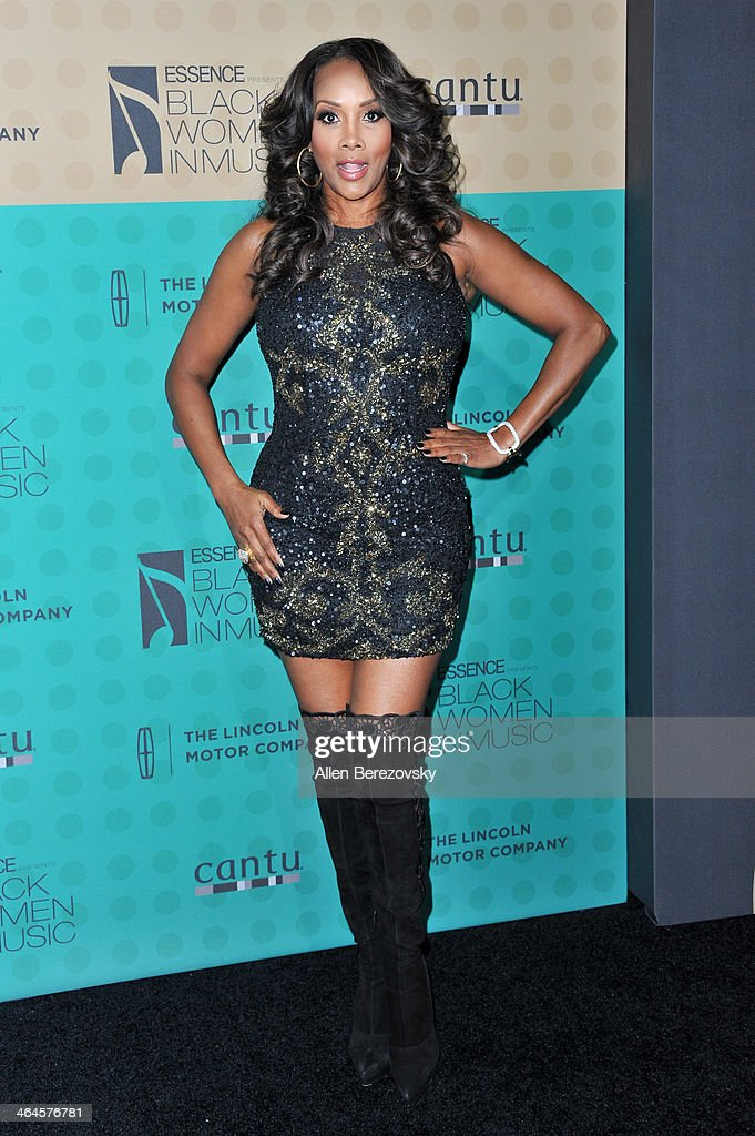Actress Vivica A Fox attends Essence Magazine's 5th Annual Black Women In Music Event at 1 OAK on January 22 2014 in West Hollywood California
