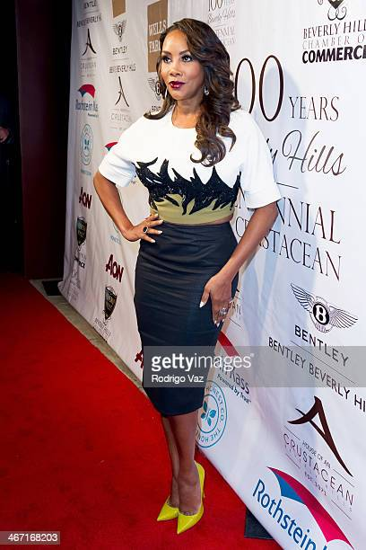 Actress Vivica A Fox attends the Beverly Hills Chamber of Commerce hosting EXPERIENCE East Meets West event at Crustacean on February 5 2014 in...