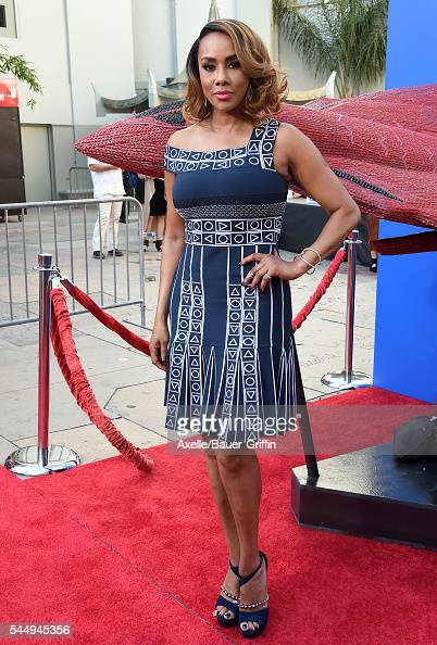 Actress Vivica A Fox attends the hand and footprint ceremony for Director Roland Emmerich at 20th Century Fox's 'Independence Day Resurgence' at TCL...
