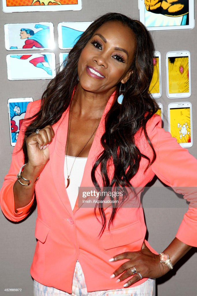 Actress Vivica A. Fox attends the Samsung Galaxy VIP Lounge at Comic-Con International 2014 at Hard Rock Hotel San Diego on July 25, 2014 in San Diego, California.