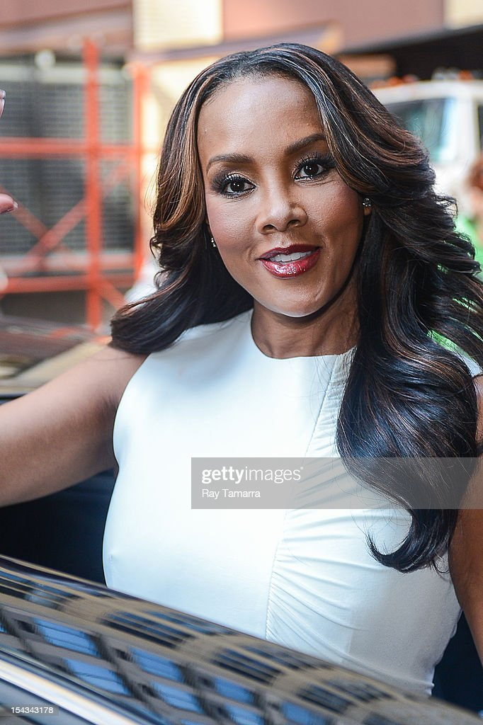 Actress <a gi-track='captionPersonalityLinkClicked' href=/galleries/search?phrase=Vivica+A.+Fox&family=editorial&specificpeople=201901 ng-click='$event.stopPropagation()'>Vivica A. Fox</a> leaves the 'Wendy Williams Show' taping at the Chelsea Studios on October 18, 2012 in New York City.