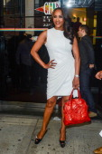 Actress Vivica A Fox leaves the 'Wendy Williams Show' taping at the Chelsea Studios on October 18 2012 in New York City