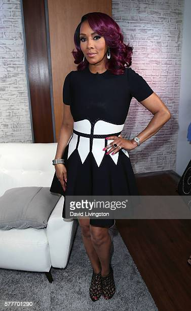 Actress Vivica A Fox poses at Hollywood Today Live at W Hollywood on July 19 2016 in Hollywood California