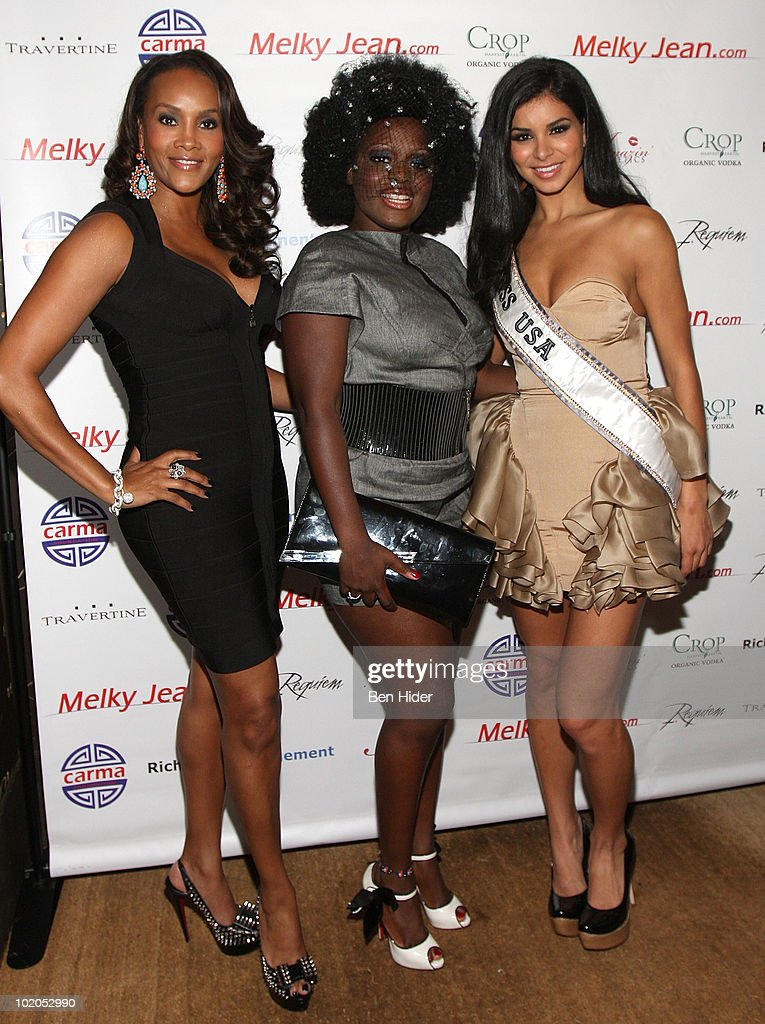 Actress Vivica A. Fox, Singer Melky Jean and Miss USA Rima Fakih attend the 3rd annual Geminis Give Back at 1OAK on June 13, 2010 in New York City.