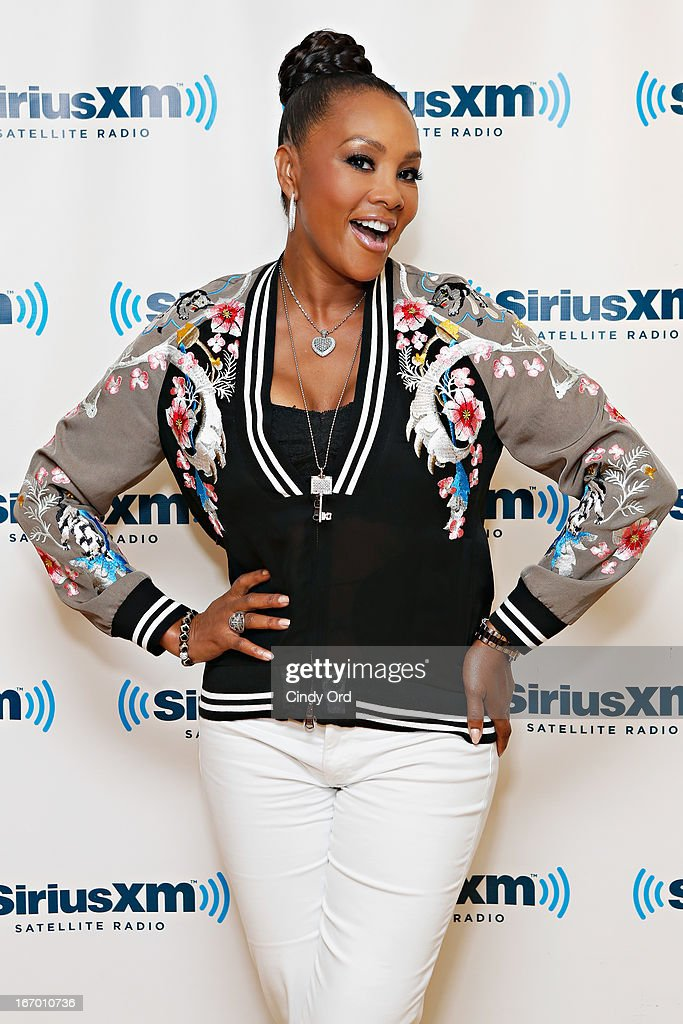 Actress <a gi-track='captionPersonalityLinkClicked' href=/galleries/search?phrase=Vivica+A.+Fox&family=editorial&specificpeople=201901 ng-click='$event.stopPropagation()'>Vivica A. Fox</a> visits the SiriusXM Studios on April 19, 2013 in New York City.