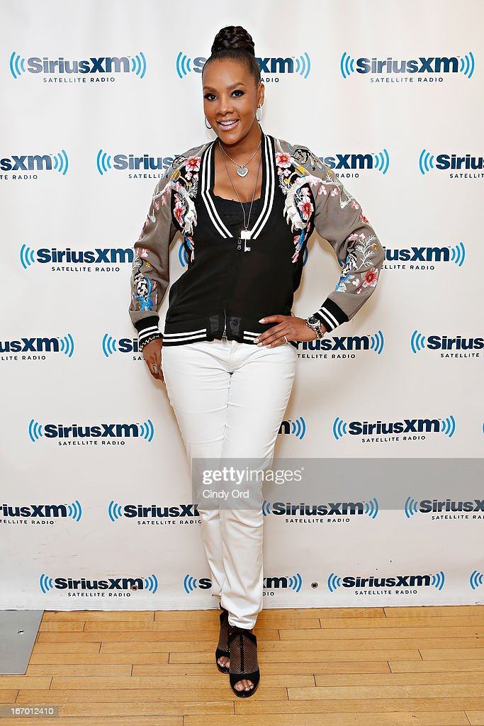 Actress Vivica A. Fox visits the SiriusXM Studios on April 19, 2013 in New York City.