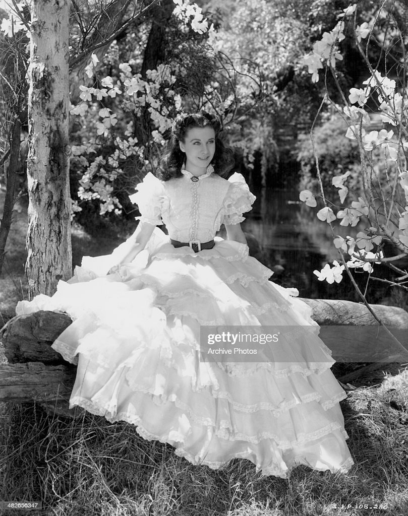 Actress Vivien Leigh as Scarlett O'Hara in a scene from the movie 'Gone with the Wind' 1939