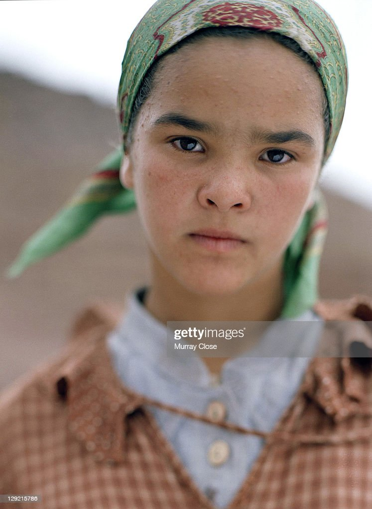 Actress Wahiba Sahmi as Zohra on the set of the movie 'Babel', being filmed on location in Morocco, 2005. The film was directed by Alejandro Gonzalez Inarritu.