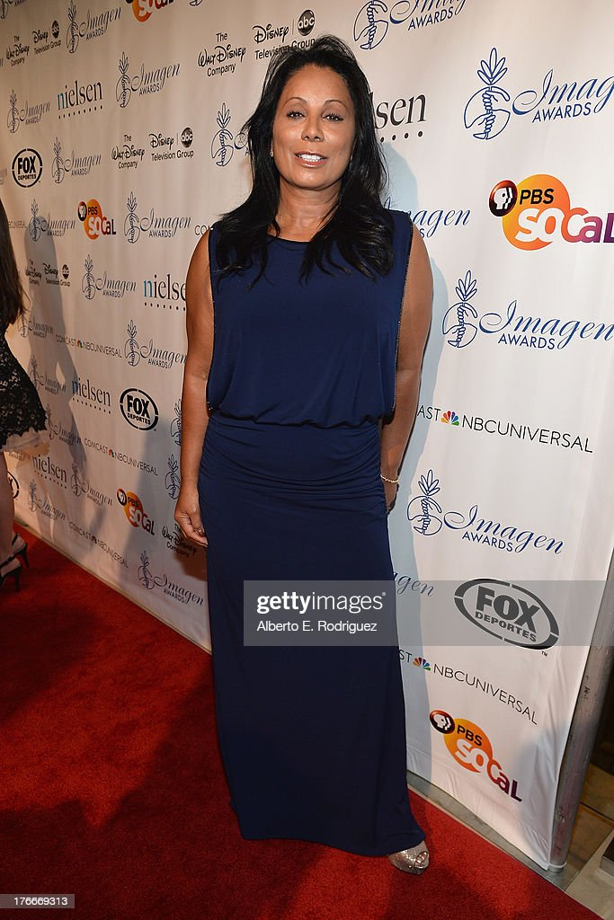 Actress Wanda De Jesus arrives to the 28th Annual Imagen Awards at The Beverly Hilton Hotel on August 16, 2013 in Beverly Hills, California.