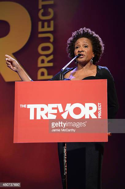 Actress Wanda Sykes hosts the Trevor Project's 2014 'TrevorLIVE NY' Event onstage at the Marriott Marquis Hotel on June 16 2014 in New York City