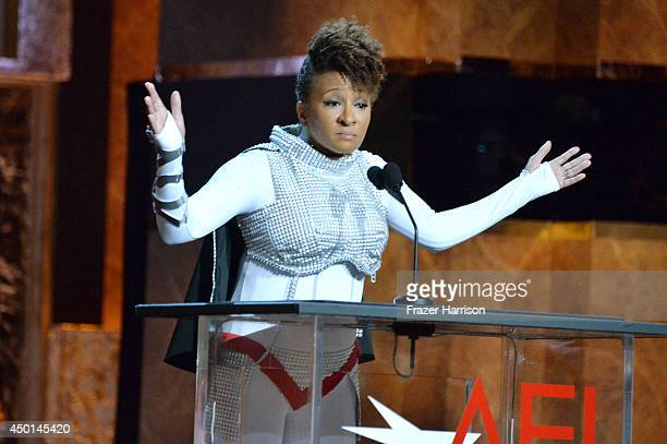 Actress Wanda Sykes speaks onstage at the 2014 AFI Life Achievement Award A Tribute to Jane Fonda at the Dolby Theatre on June 5 2014 in Hollywood...