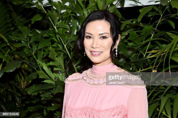 Actress Wendi Deng Murdoch attends the Gucci X Artsy dinner at Faena Hotel on December 6 2017 in Miami Beach Florida